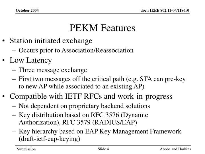 PEKM Features