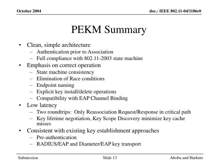 PEKM Summary