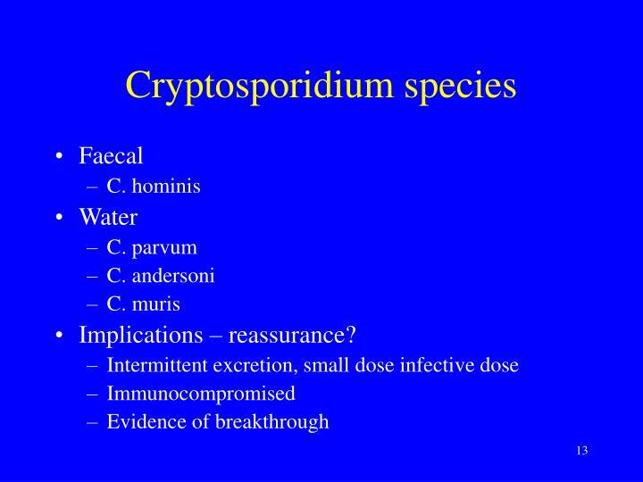 Cryptosporidium species