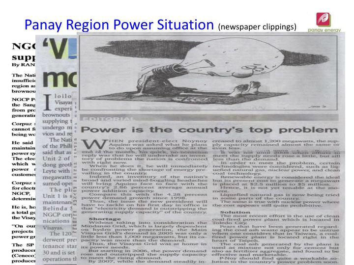 Panay Region Power Situation