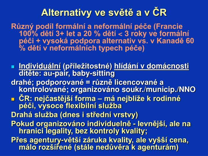 Alternativy ve světě a v ČR