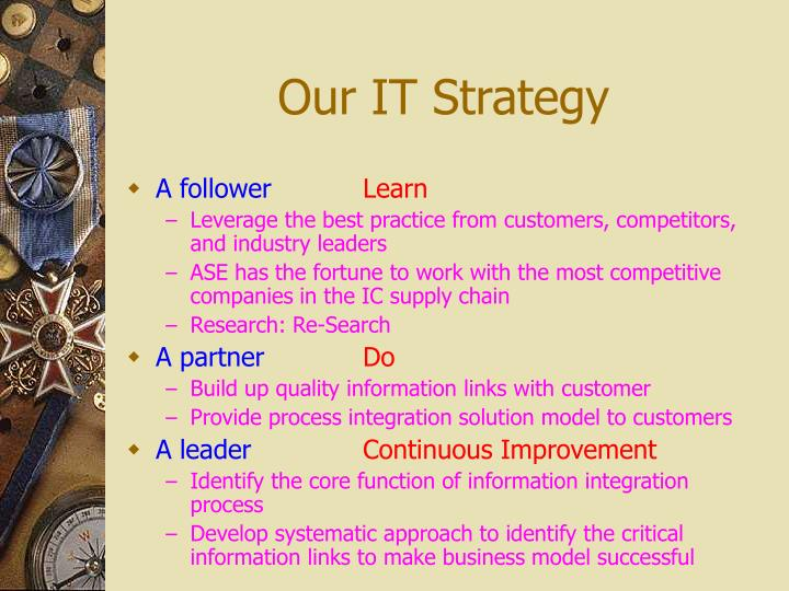 Our IT Strategy