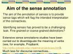 aim of the sense annotation