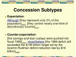 concession subtypes