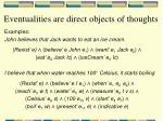 eventualities are direct objects of thoughts1