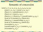 semantic of concession