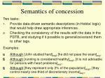semantics of concession