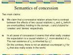 semantics of concession1