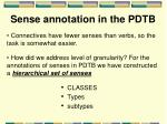 sense annotation in the pdtb1