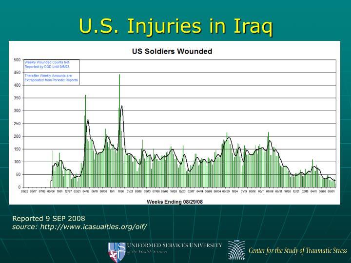 U.S. Injuries in Iraq
