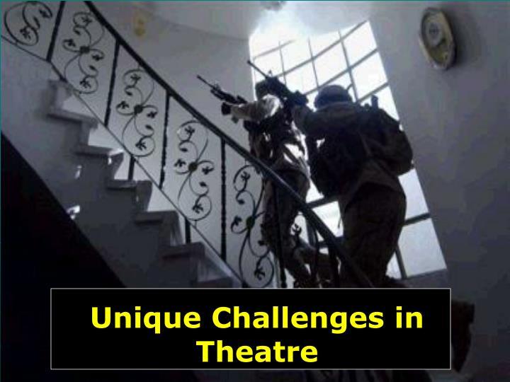 Unique Challenges in Theatre