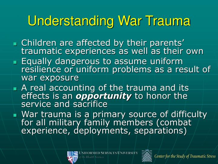 Understanding War Trauma