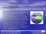 new energy systems trust nest