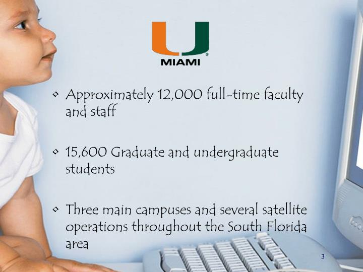 Approximately 12,000 full-time faculty and staff