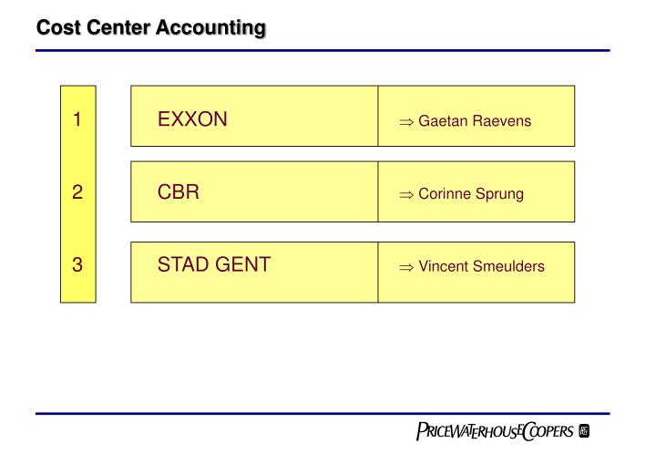 cost center accounting n.
