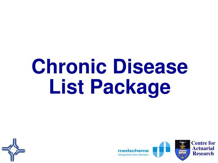 Chronic Disease List Package