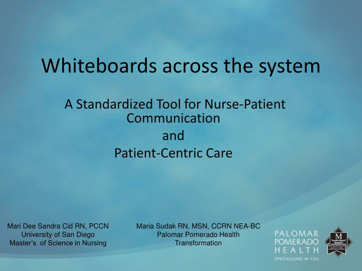 whiteboards across the system n.