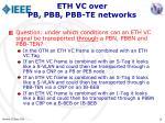eth vc over pb pbb pbb te networks