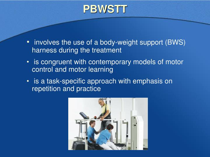 controlled somewhat body-weight help for the purpose of fitness treadmill training-a instance study