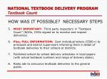 national textbook delivery program textbook count12