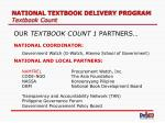 national textbook delivery program textbook count13