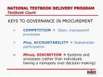 national textbook delivery program textbook count23