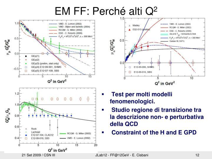 EM FF: Perché alti Q