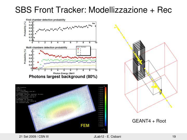 SBS Front Tracker: Modellizzazione + Rec