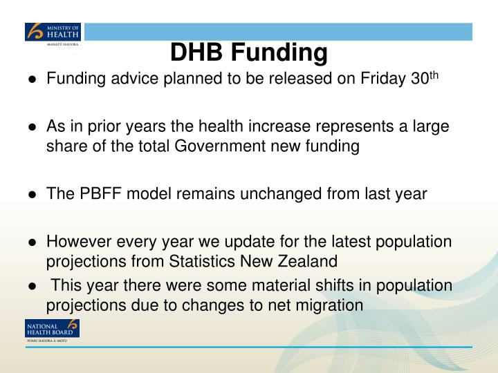 Dhb funding