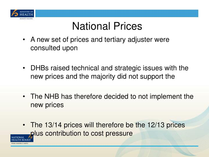 National Prices
