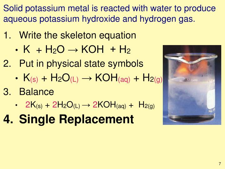 Ppt Writing Chemical Equations To Symbolize Chemical Reactions