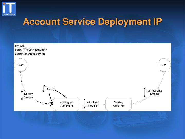 Account Service Deployment IP