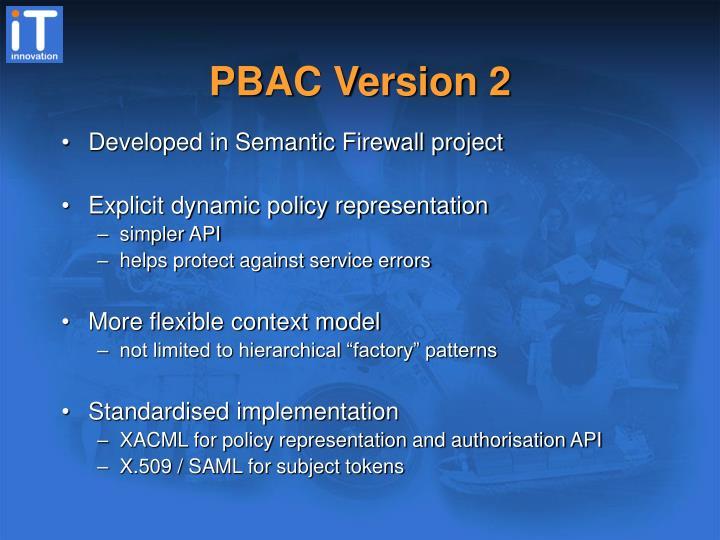PBAC Version 2