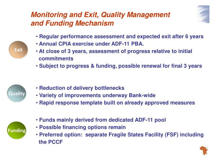 Monitoring and Exit, Quality Management