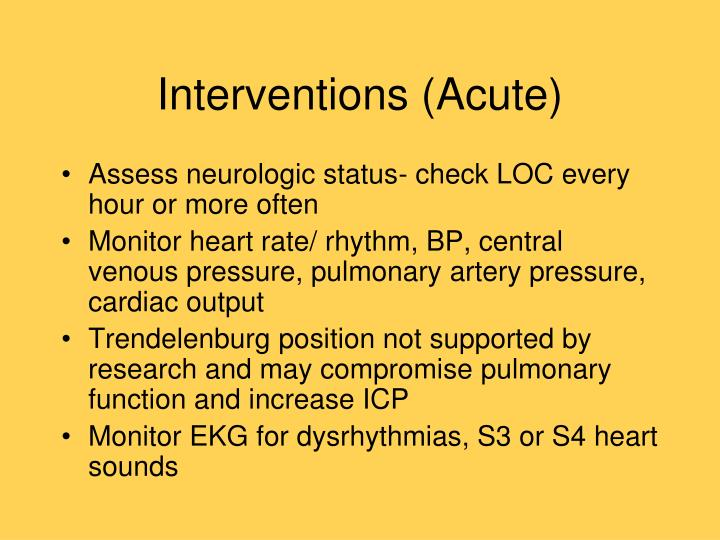 Interventions (Acute)