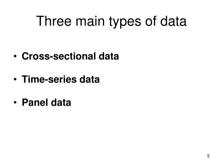 Three main types of data