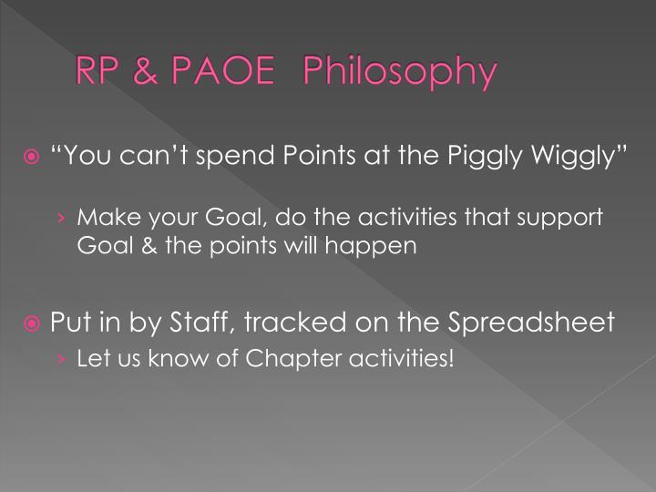 Rp paoe philosophy