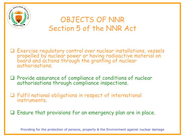 OBJECTS OF NNR