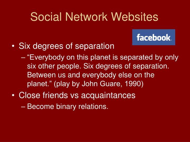 Social Network Websites