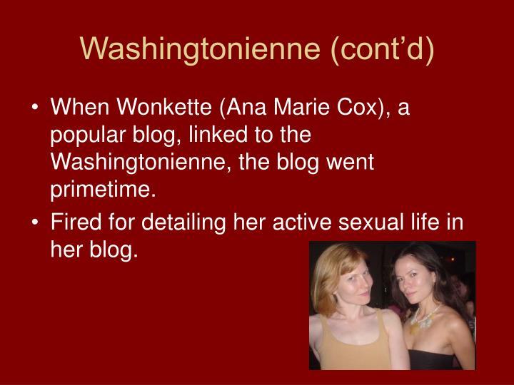 Washingtonienne (cont'd)