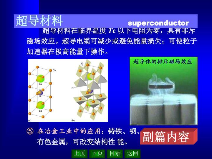 超导体的排斥磁场效应