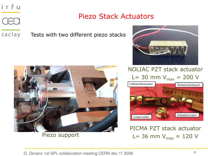 Piezo Stack Actuators