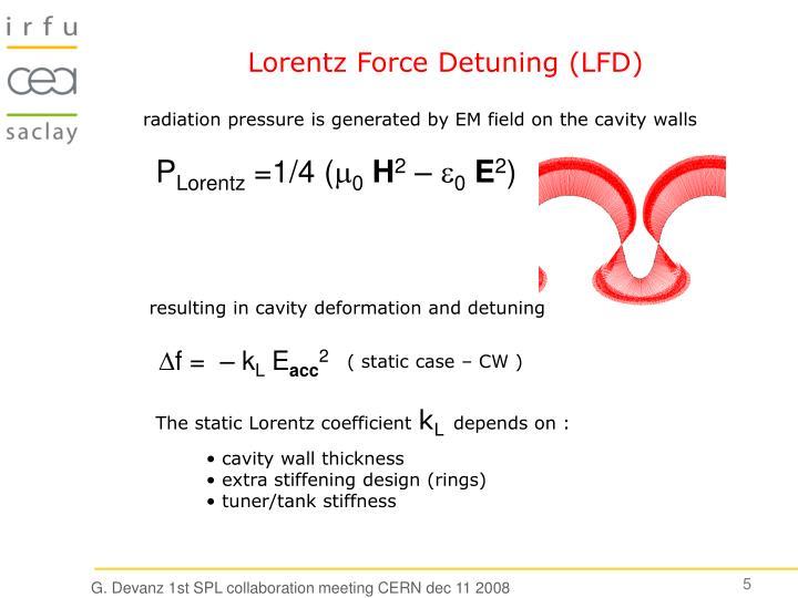 Lorentz Force Detuning (LFD)