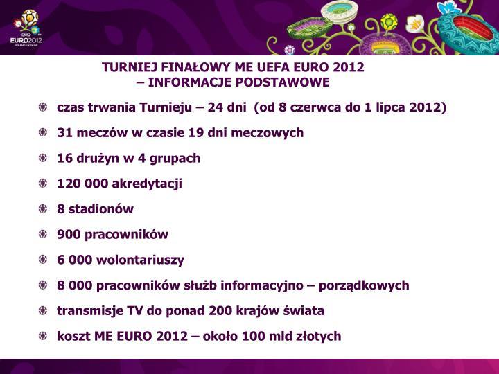 TURNIEJ FINAŁOWY ME UEFA EURO 2012