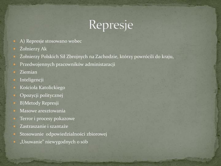 Represje