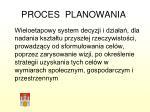 proces planowania