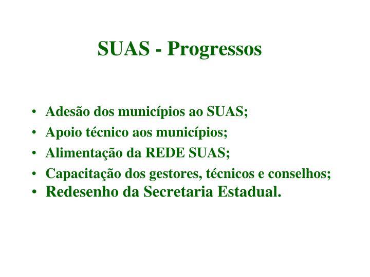 Adesão dos municípios ao SUAS;