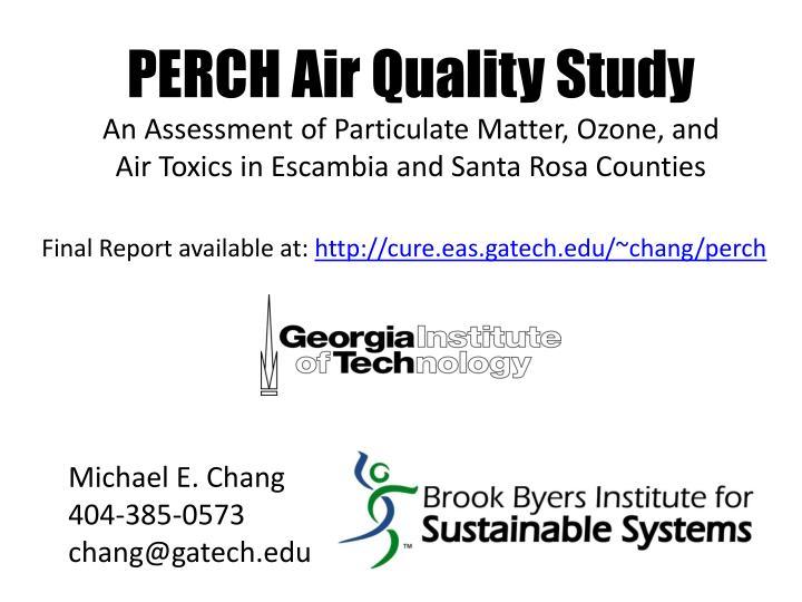 PERCH Air Quality Study