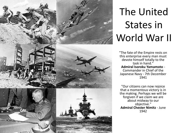 an essay on the involvement of the united states in world war ii Introduction world war ii was the mightiest struggle humankind has ever seen it killed more people, cost more money, damaged more property, affected more people, and caused more far-reaching changes in nearly every country than any other war in history.