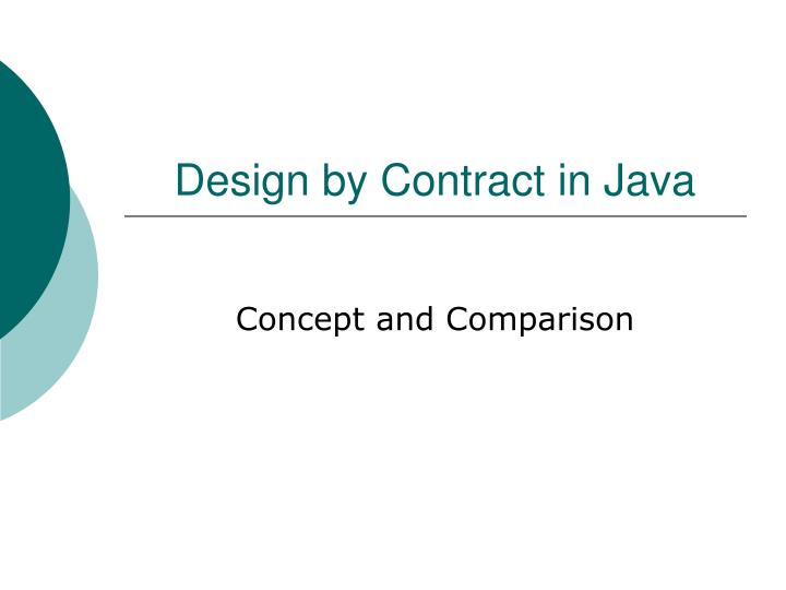 design by contract in java n.